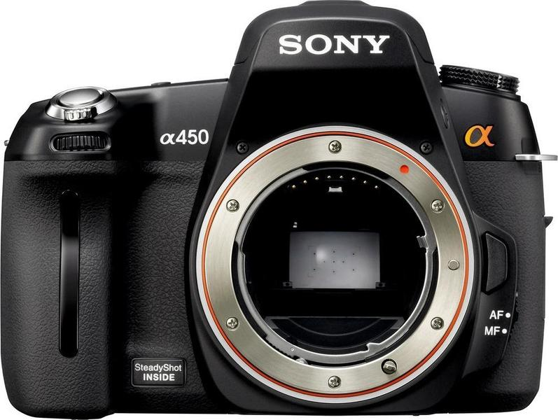 Sony Alpha DSLR-A450 front