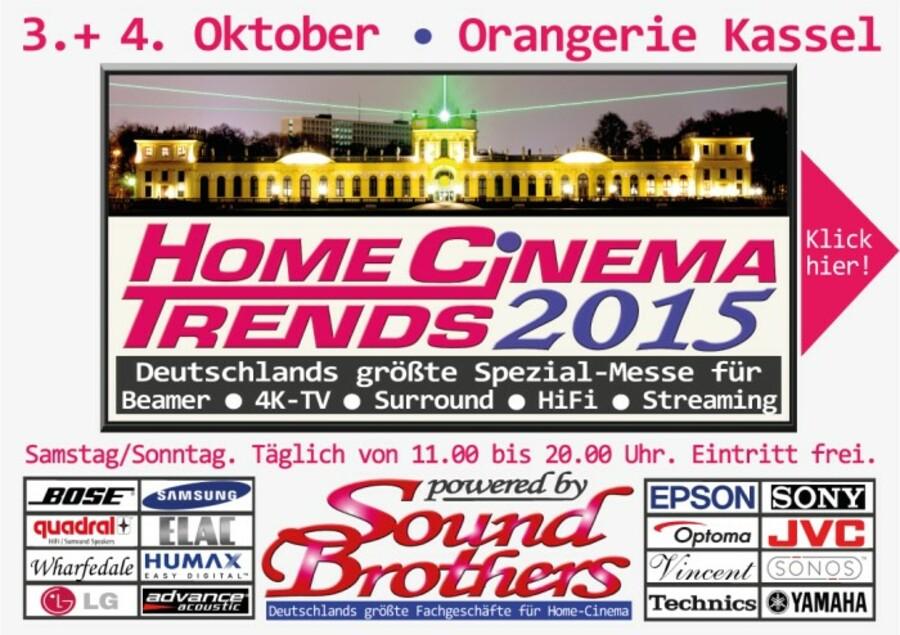 Sony VPL-VW520 ES INFO: Die Home Cinema Trends am 3. und 4. Oktober in der Orangerie Kassel