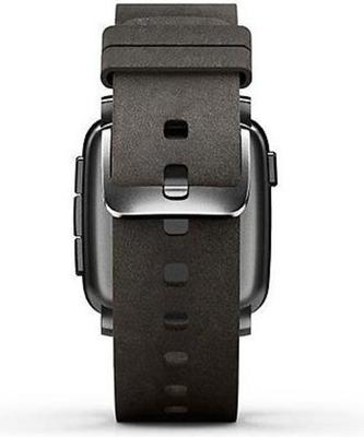 Pebble Time Steel Leather smartwatch